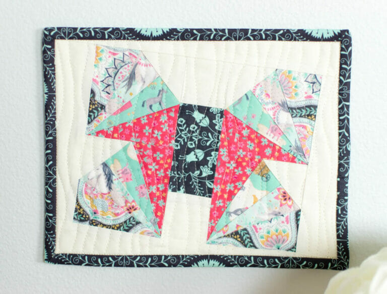 Wild Summer Creature – easy paper piecing tutorial for a butterfly mini quilt