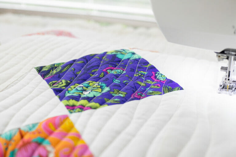 See my Wavy Line Quilting in Action!