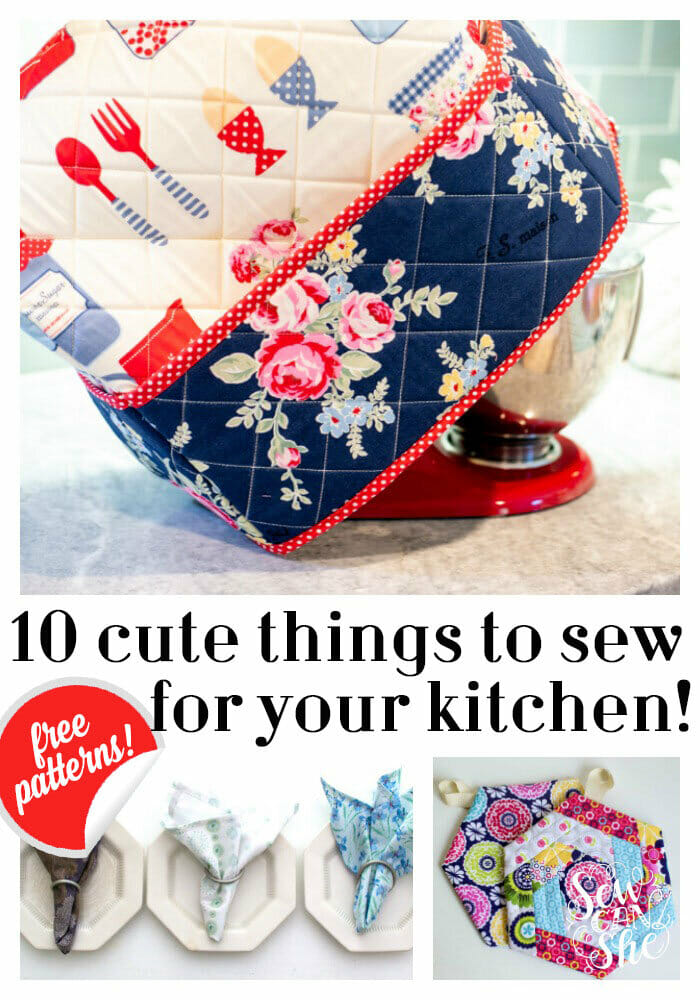 10+ Cute Things to Sew for Your Kitchen – free tutorials and patterns!