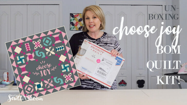 Unboxing Video: The Choose Joy BOM Quilt Kit in fabrics from Ruby Star Society!