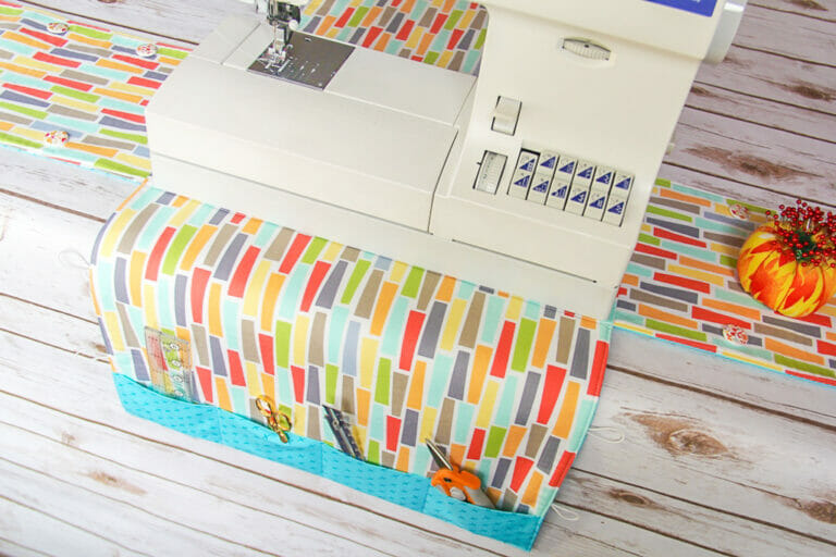 Easy Peasy Sewing Machine Cover and Mat {free sewing pattern}