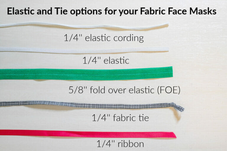 Elastic and Tie Solutions for your Fabric Face Masks