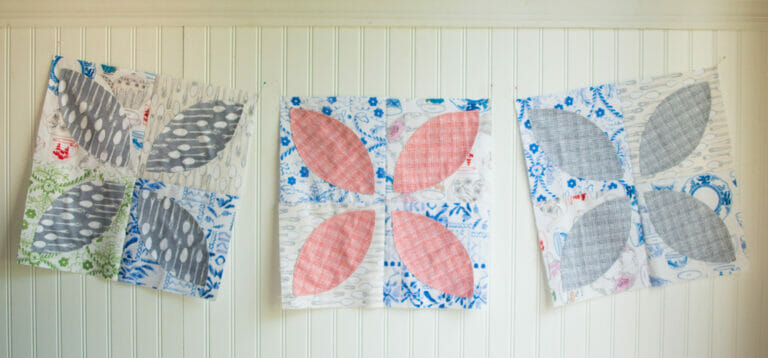 Easy Quilt Block Tutorial: the Orange Peel Quilt Block {with a free template}