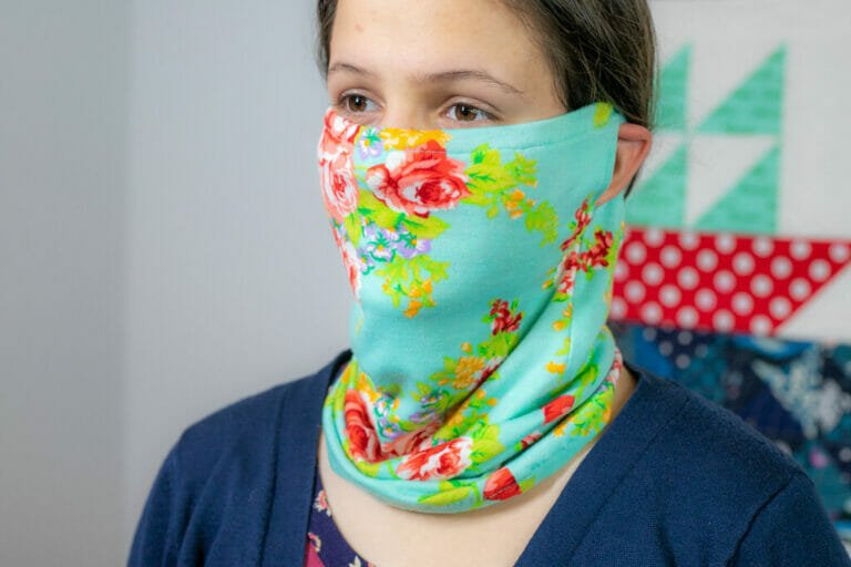 How to Sew a Gaiter-Style Face Mask for Men or Women