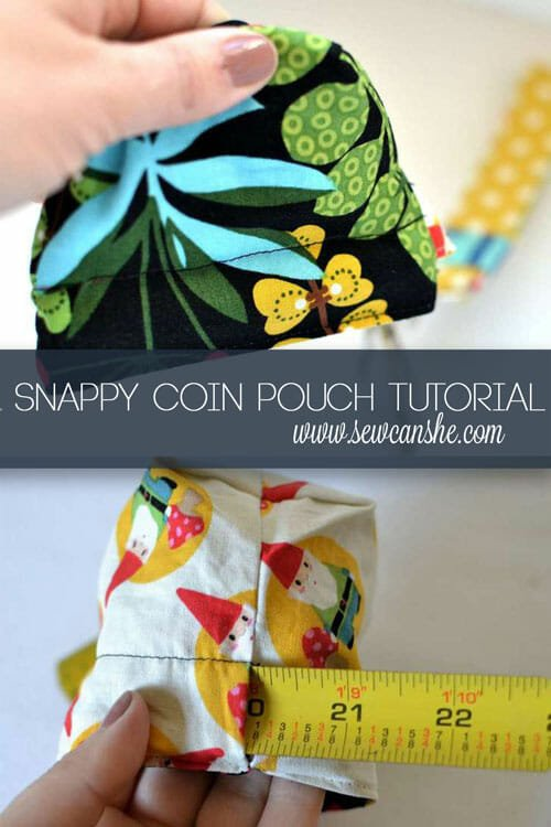 The Snappy Coin Pouch – free tutorial from SewCanShe