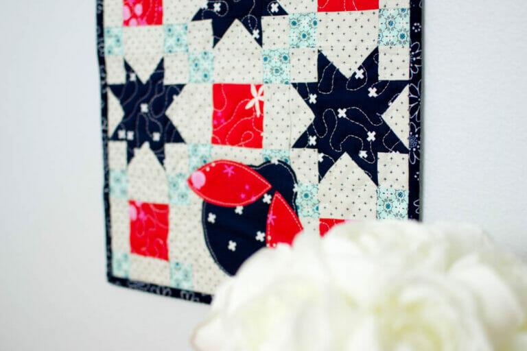 Monthly Mini Quilt Pattern… Ladybug Liberty