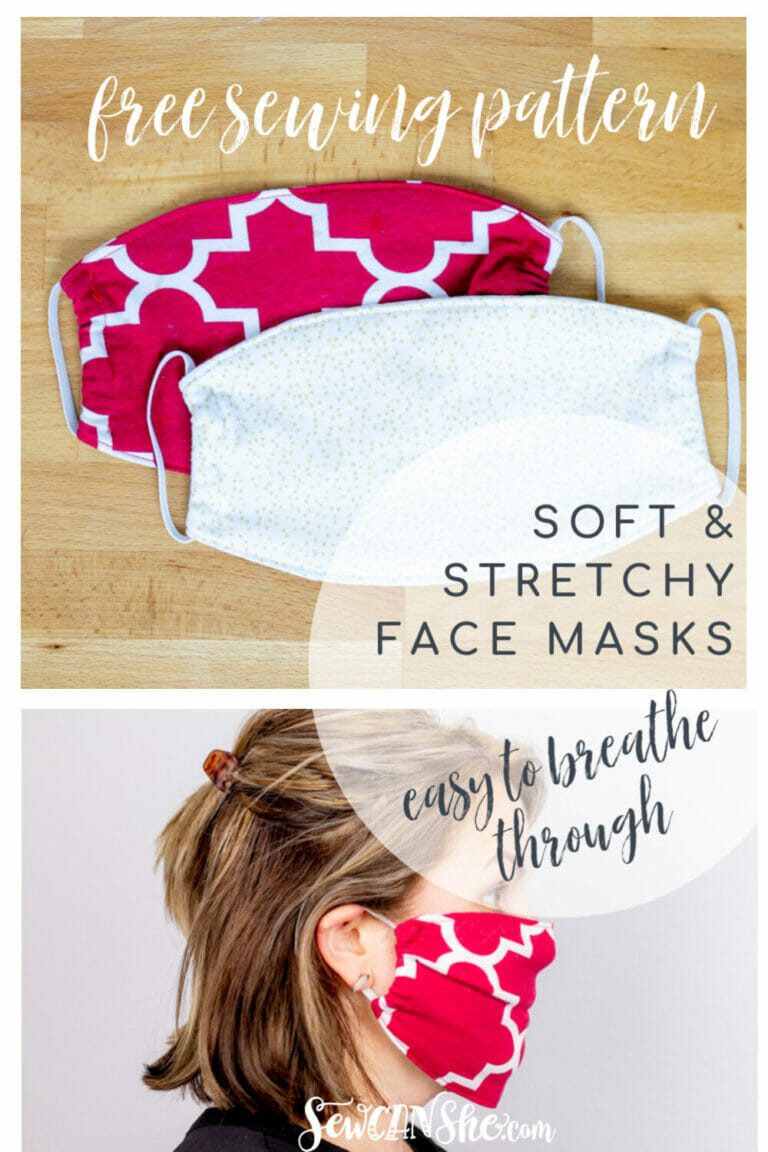 How to Sew Soft and Stretchy Face Masks – Easy to Breathe Through – Free Sewing Pattern