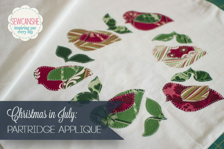 Free Applique Design: Christmas in July Partridges!