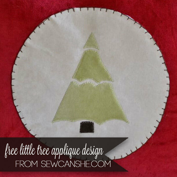 Free Pine Tree Applique Pattern – SewCanShe Applique of the Month Club!