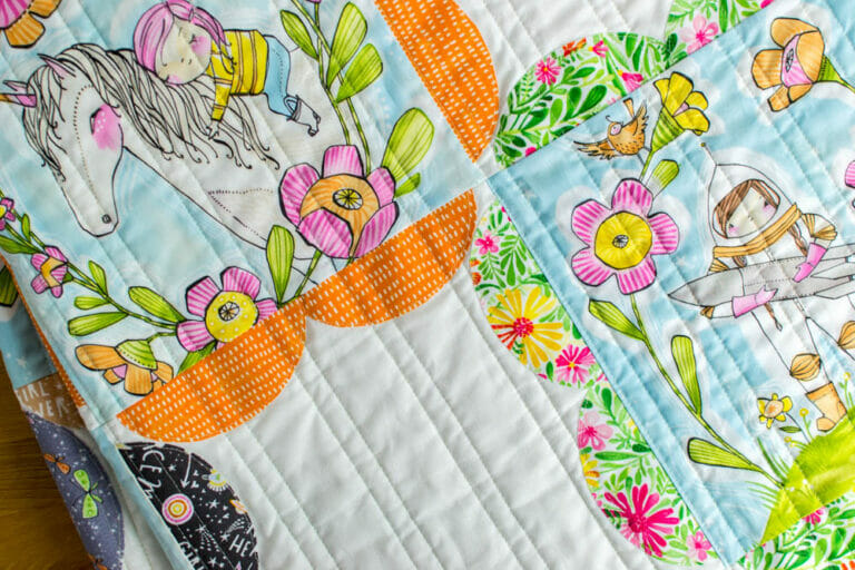 Pretty Pictures Quilt – free quilt pattern for panel fabrics!