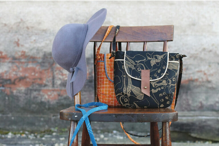 Sewing The Gatherer Crossbody Bag Pattern by Anna Graham