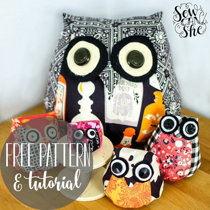 Adorable Owls – Free Sewing Pattern & Tutorial