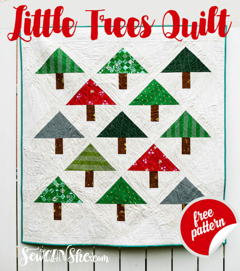 Little Trees Quilt – free holiday quilt pattern