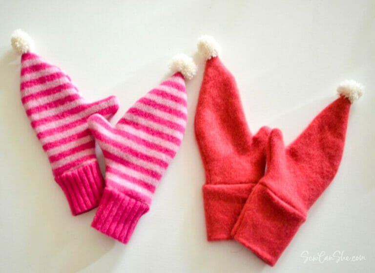 Free Pattern… Sew Cute Mittens from a Sweater!