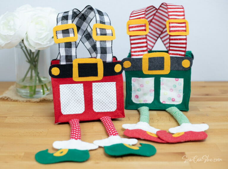 Adorable Elf Pants Gift Bags – Free Sewing Pattern