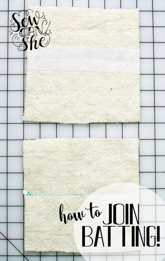 2 Ways to Join Quilt Batting (and use up small pieces)