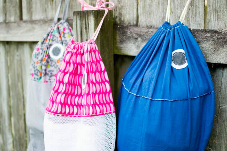 How to Sew a Fish Shaped Laundry Bags {free sewing pattern}