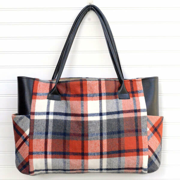 Sewing A Fabulous Flannel Tote for Fall!