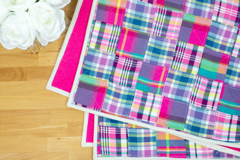 How to Sew the Easiest Patchwork Baby Quilt Ever – free quilt pattern