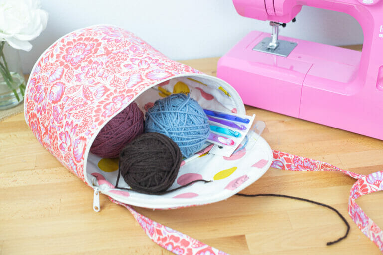How to Sew a Yarn Project Bag – Free DIY Sewing Pattern