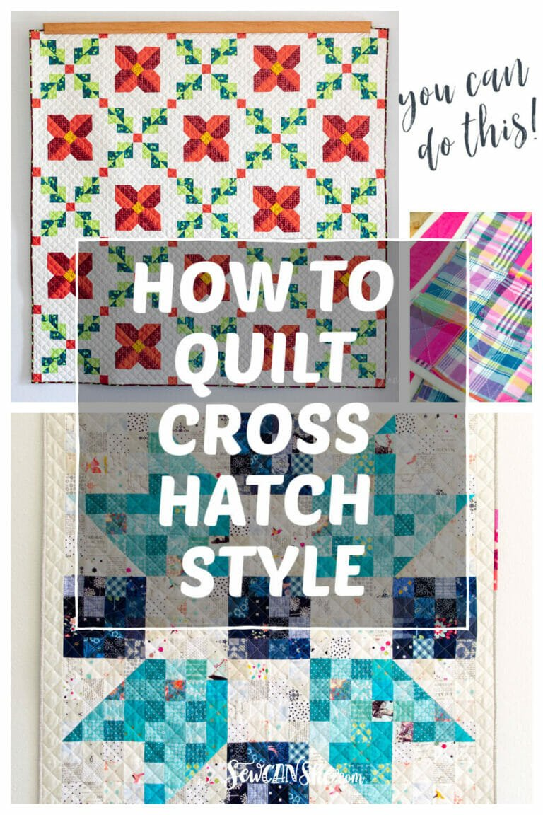 How to Do Cross Hatch Quilting Tutorial – using a Walking Foot!