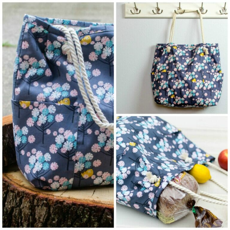 Roomy Shopping Bag Pattern – with cute rope handles!