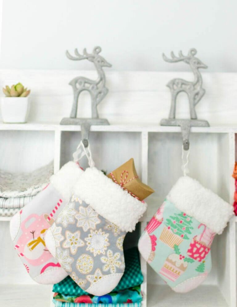 Adorable Mini Christmas Stocking free sewing pattern