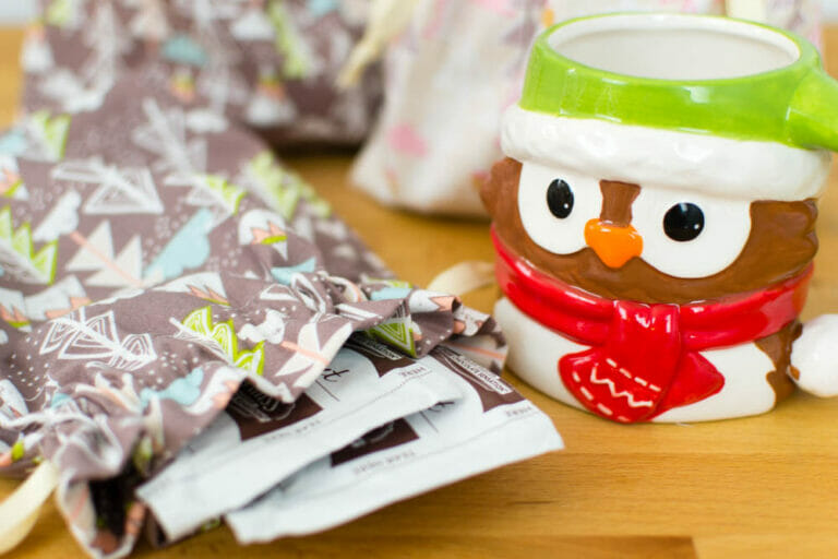 DIY Hot Cocoa Bags – easy sewing gift idea!