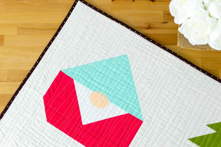 Sew a Gnome Forest Mini Quilt – Free Gnome Block Pattern