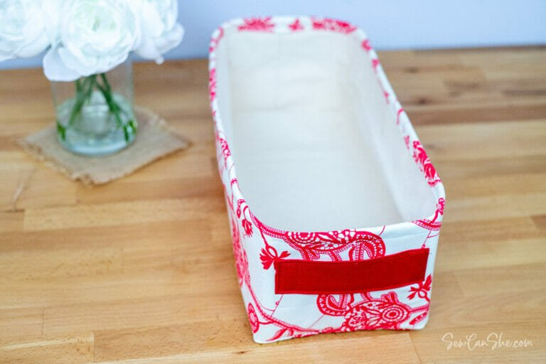 Easy Sewing Tutorial for the Perfect Rectangle Basket – free!