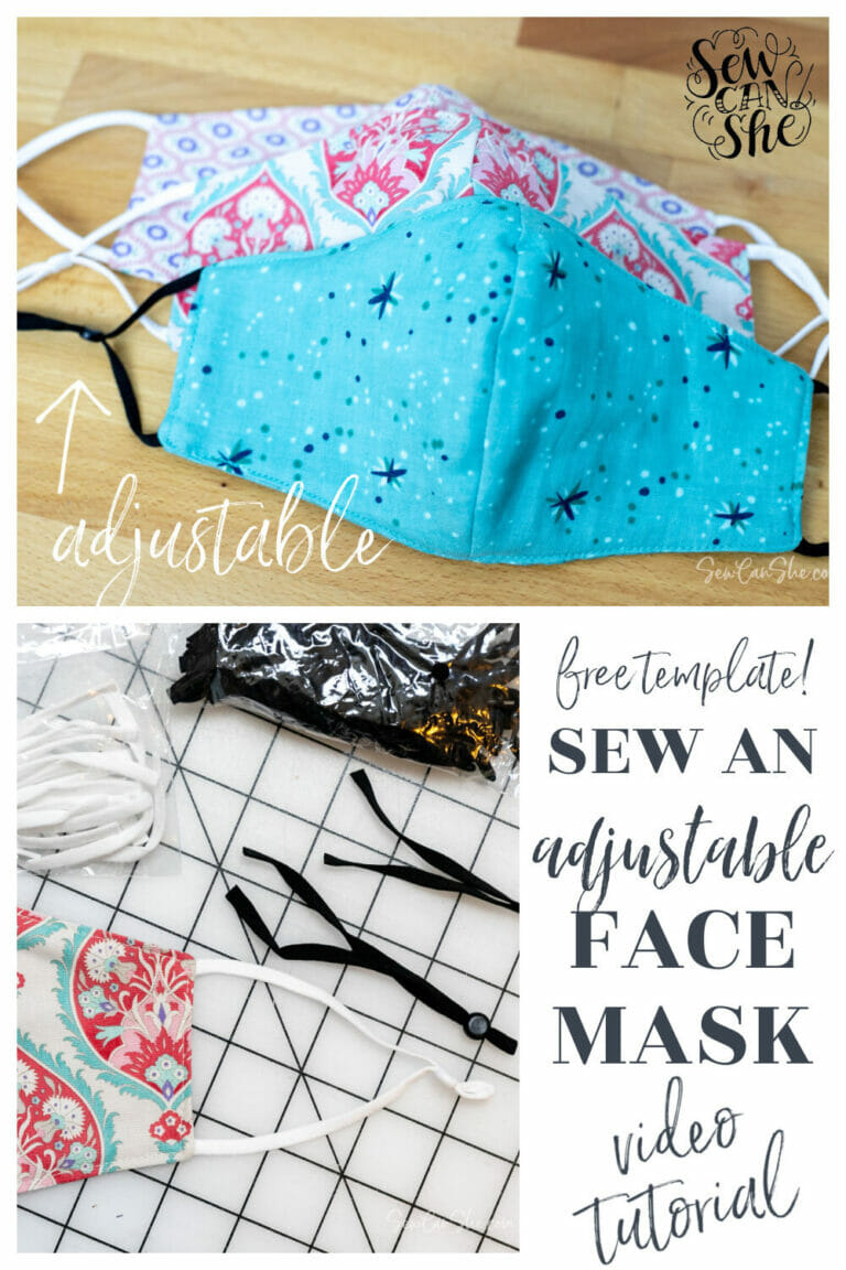 How to Sew a Basic Face Mask (with adjustable elastics)