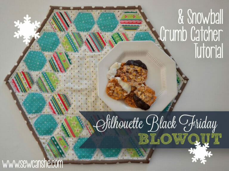 Snowball Crumb Catcher Tutorial – a table topper for the holidays!