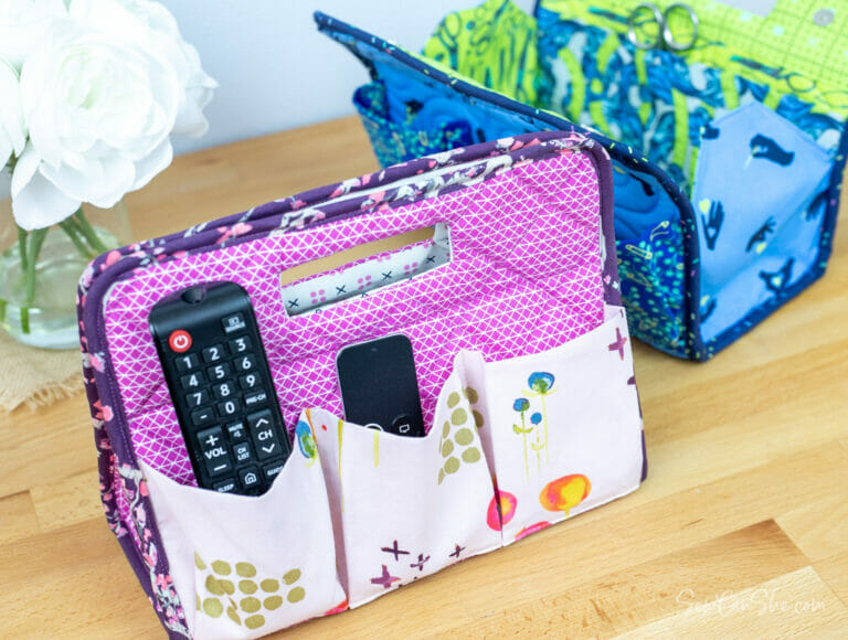 The Amazing A-Frame Organizer (with cut out handles) – free sewing pattern