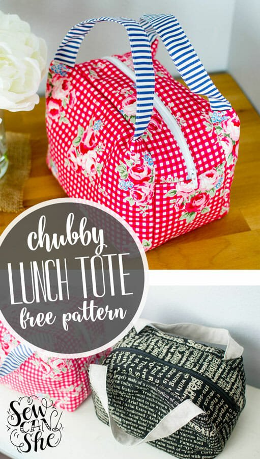 Chubby Lunch Tote – Free Sewing Pattern!