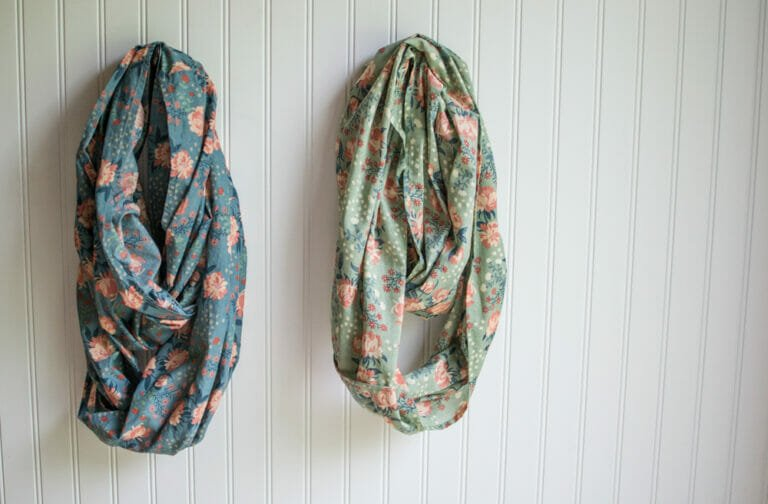 Easy DIY Infinity Scarf – with just a yard of fabric! {tutorial}