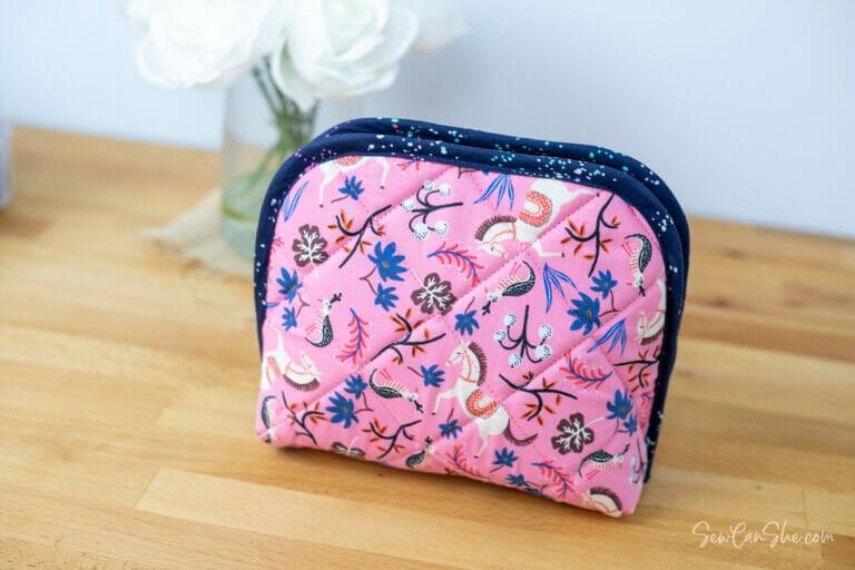 Twice as Nice Zippered Organizer – free sewing pattern