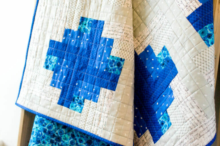 Blueberry Pie – free quilt pattern – it's a log cabin variation!