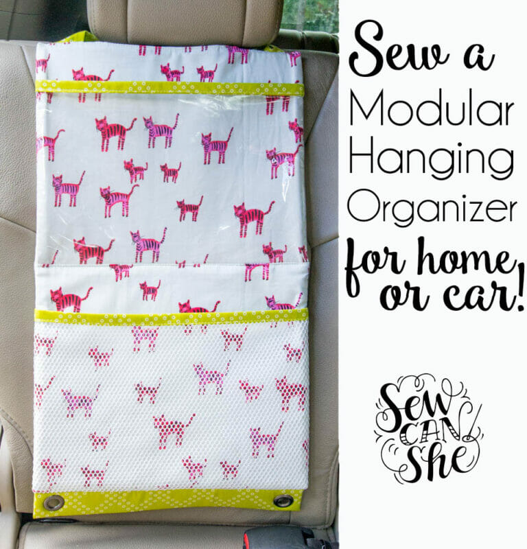 Sew a Hanging Organizer with Pockets {free sewing tutorial}