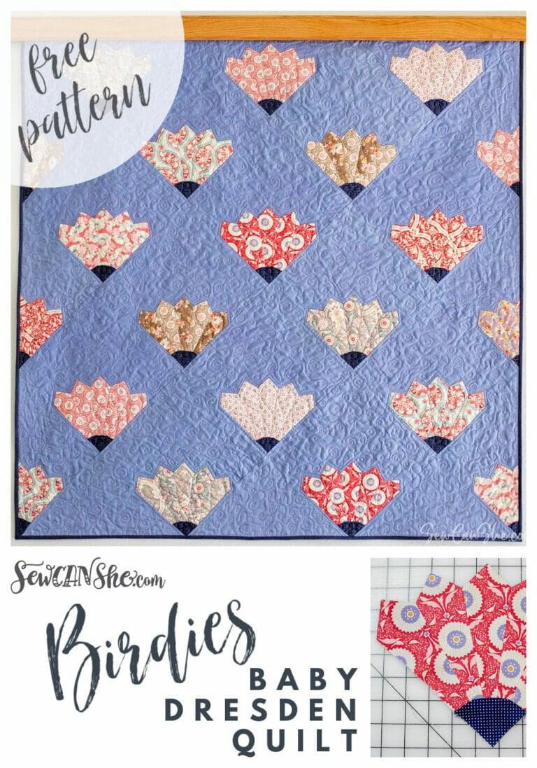 Baby Dresden Block Quilt – Free Fat Quarter Quilt Pattern!
