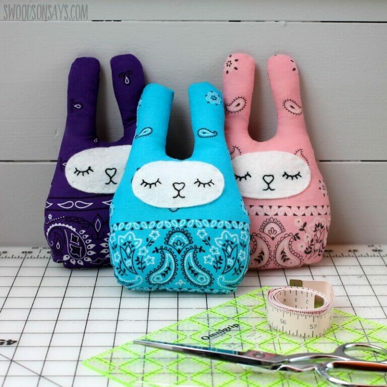 Stephanie's Adorable Bandana Bunny Softies!