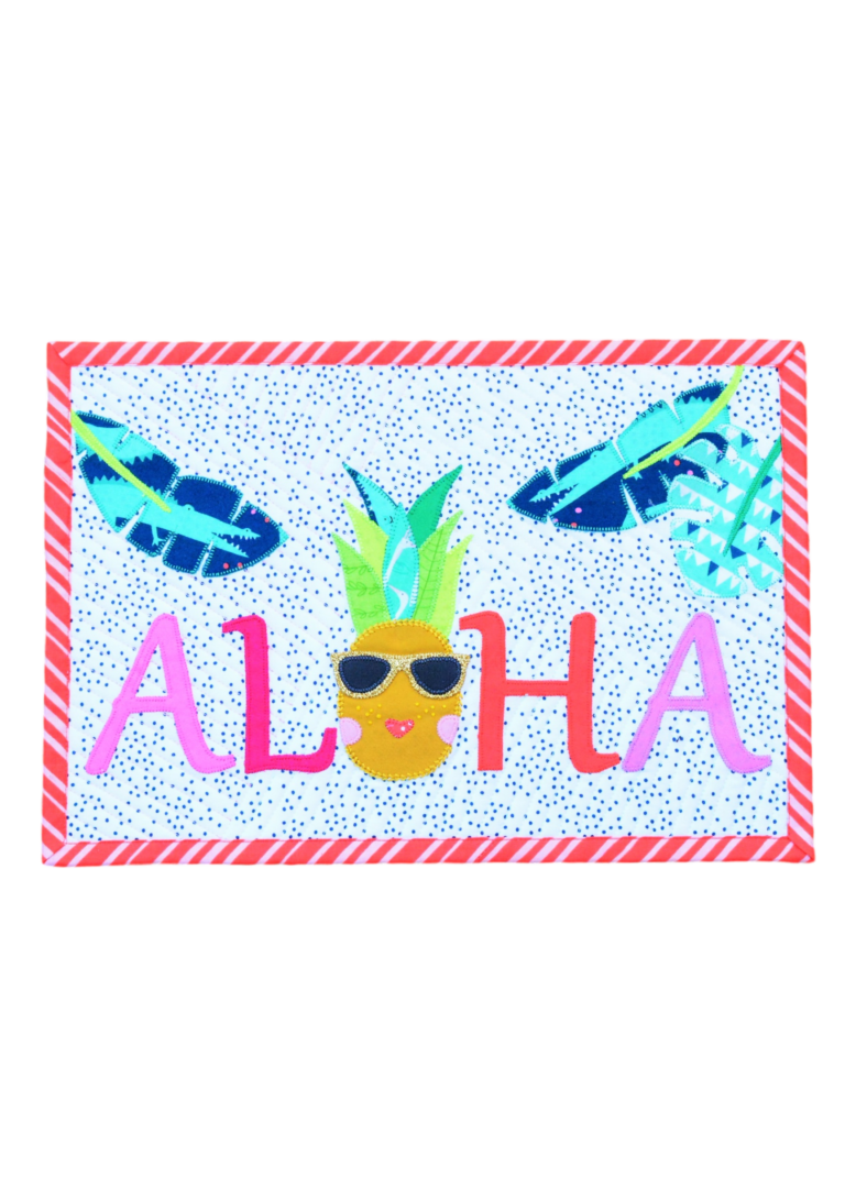 Free Pineapple Mini Quilt Pattern – Aloha!