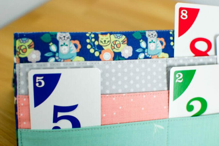 The Card Kitty (playing card holder for card games) – free sewing tutorial