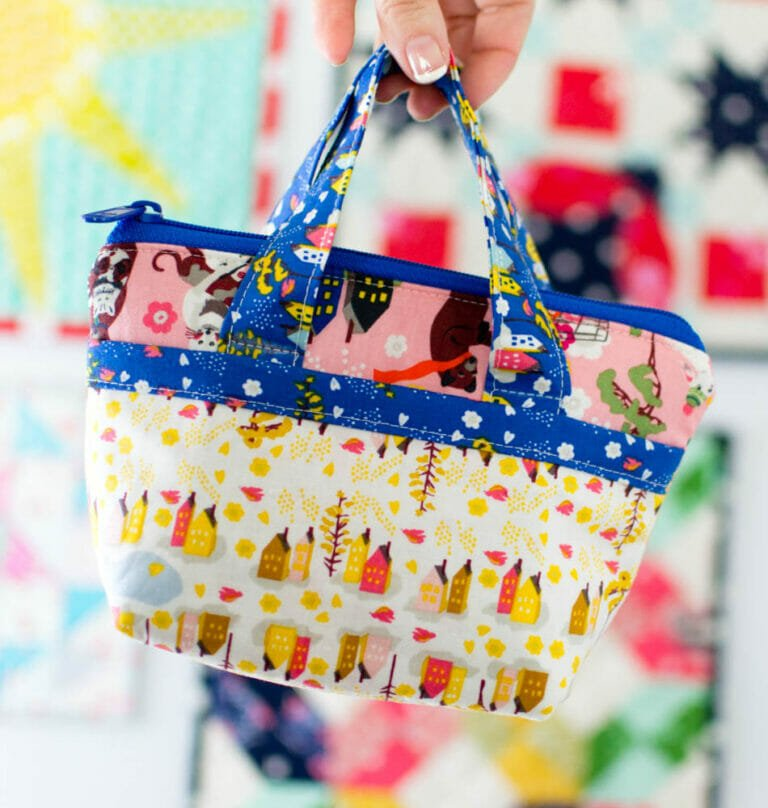 Tiny Bag Sewing Pattern – Sew a super adorable tote – free pattern!