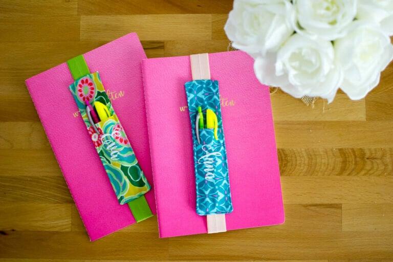 DIY Journaling Bookmarks (and pencil pocket) free sewing tutorial