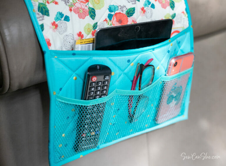 Couch Caddy Remote Control Organizer – free sewing pattern