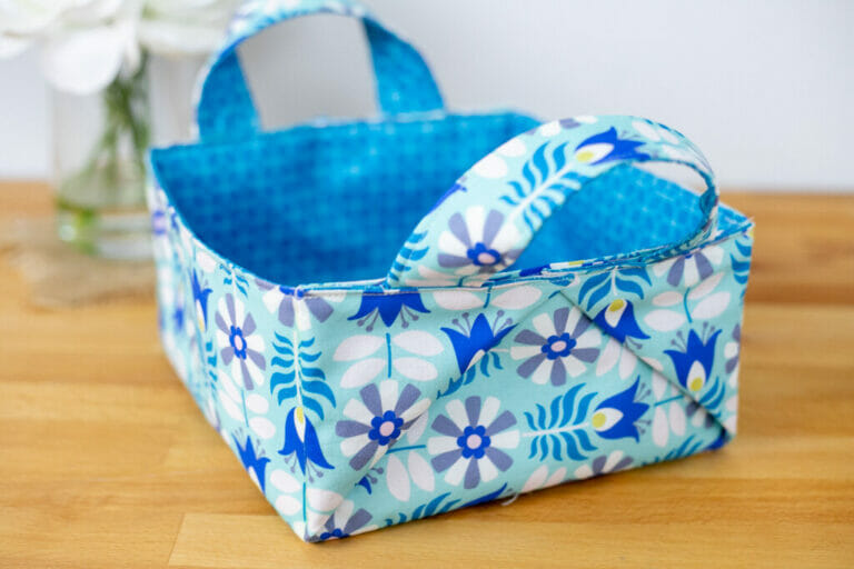 The Best Square Basket You Can Sew – free tutorial