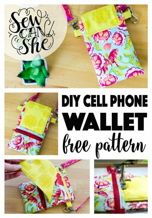 DIY Phone Case and Wallet with Card Pockets – free sewing pattern!