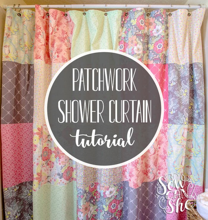 How to Sew A Fat Quarter Patchwork Shower Curtain!