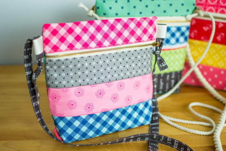 How to Sew  a Cross Body Zipper Tote – Free Pattern
