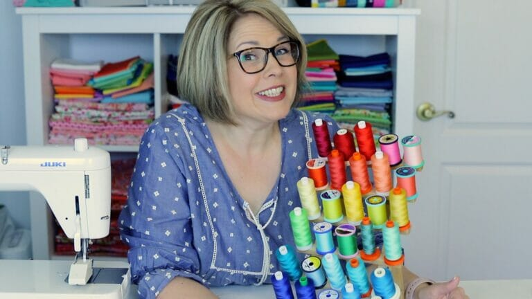 How to Organize Your Threads in Rainbow Color Order {video!}